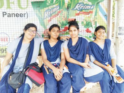 Sudipta with her friends in college